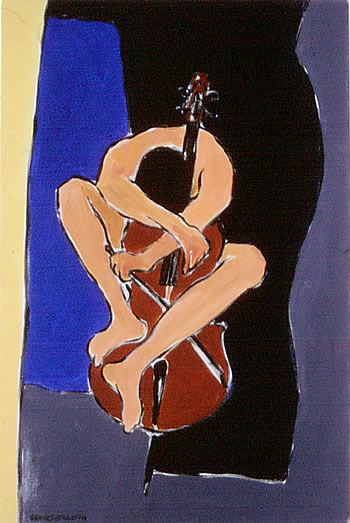 Song for Cello, painting by Wayne Roberts