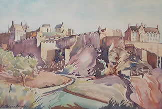 Edinburgh Castle, watercolour by Wayne Roberts