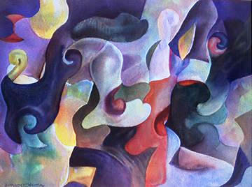 abstract watercolour by Wayne Roberts