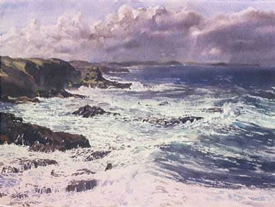 watercolour, Phillip Island