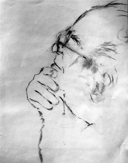 Larry Sitsky pencil study