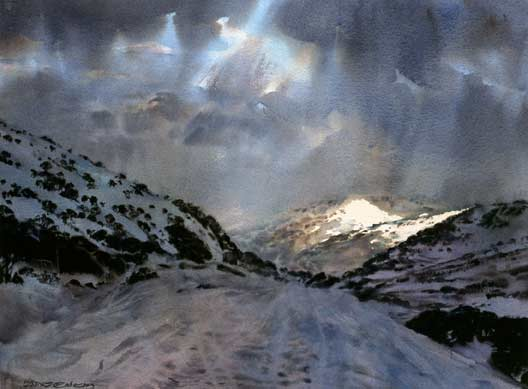 transparent watercolour, North Perisher